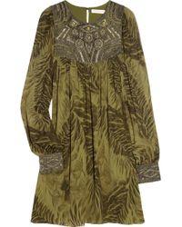 Matthew Williamson Embellished Silk Georgette Dress - Lyst
