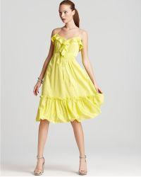 Milly Dress Adrienna Ruffle Hem - Lyst