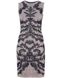 Alexander McQueen Crest Print Dress - Lyst