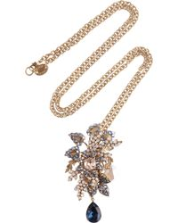 Bijoux Heart | Moritz 24karat Goldplated Swarovski Crystal Necklace | Lyst