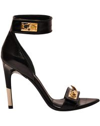 Givenchy Leather and Suede Sandal black - Lyst