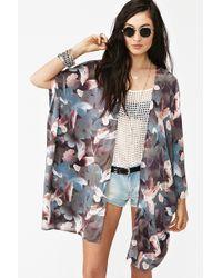 Nasty Gal Floral Drape Jacket - Lyst