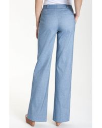 Valette | Arthur Wide Leg Chambray Trousers | Lyst