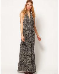 Winter Kate  Passenger Maxi Dress in Printed Silk Chiffon - Lyst