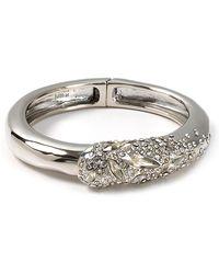 Alexis - Crystal Encrusted Rhodium Overlying Bracelet - Lyst