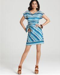Julie Dillon - Dress Printed Faux Wrap Dress - Lyst
