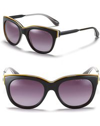 Marc By Marc Jacobs Thick Cat Eye Sunglasses black - Lyst