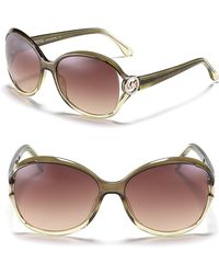 Michael Kors Michael Helena Oversized Sunglasses - Lyst