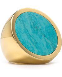 Michael Kors Michael Turquoise Slice Disc Ring - Lyst