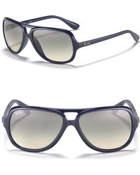 Ray-Ban Mens Highstreet Acetate Aviator Sunglasses - Lyst