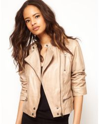 ASOS Collection Asos Premium Quilted Biker Jacket - Lyst
