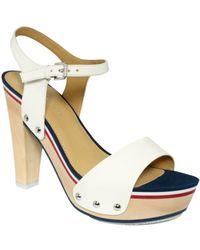Tommy Hilfiger Chicago Sport Platform Sandals - White