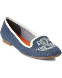 Tommy Hilfiger Polly Smoking Moc Flats - Lyst
