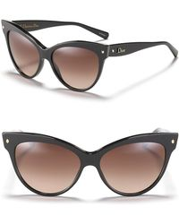 Dior Cat Eye Sunglasses With Logo On Temple brown - Lyst