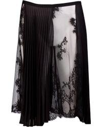 Sharon Wauchob - Pleat Lace Skirt - Lyst