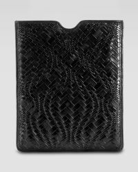 Cole Haan - Woven Leather Tablet Sleeve - Lyst