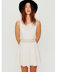 Free People Fitted With Daisies Dress - Lyst