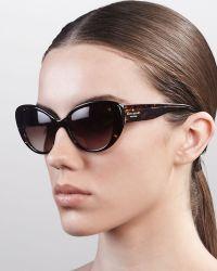 Kate Spade Franca Cateye Sunglasses  - Lyst