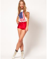 American Apparel American Apparel Disco Shorts - Red