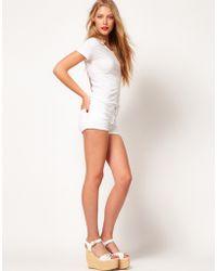 American Apparel American Apparel White Denim Knicker Shorts