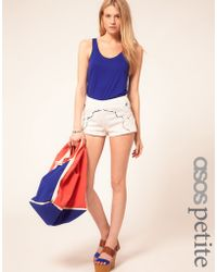 ASOS Collection | Asos Petite Exclusive Cutwork Knicker Shorts | Lyst