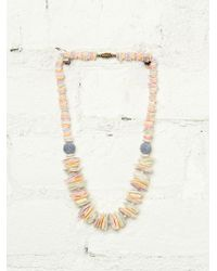 Free People Vintage Beach Shell Necklace - Lyst