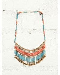 Free People Vintage Stone Necklace - Lyst