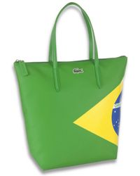 Lacoste Brazil Flag Tote Bag - Green