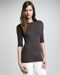 Vince Crewneck Ribbed Sweater - Lyst