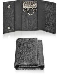 A.Testoni - Black Calf Leather Key Holder - Lyst