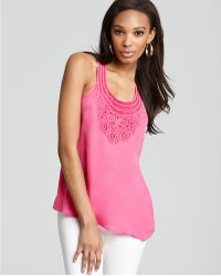 Madison Marcus Top Sleeveless with Embroidery - Purple