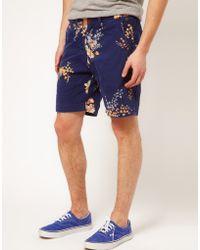 Scotch & Soda Scotch Soda Floral Pattern Shorts - Lyst