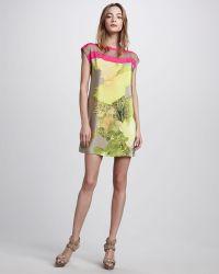 Tibi Jewel Orchid Print Shift Dress - Lyst