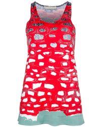 Balenciaga Print Top red - Lyst