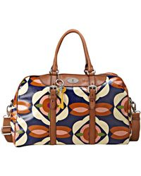 Fossil Vintage Keyper Coated Canvas Duffle - Lyst