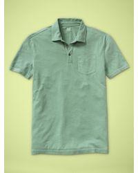 Gap Contrast Stitch Pocket Polo - Lyst