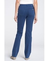 St. John Yellow Label Marie Straight Leg Jeans blue - Lyst