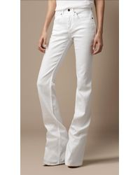 Burberry Chelsea White Bootcut Jeans