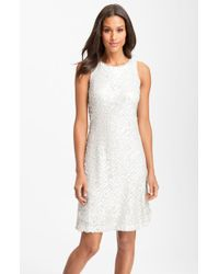 Donna Ricco Sleeveless Sequin Shift Dress - Lyst