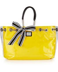 Gianfranco Ferré - Striped Shoulder Bag Yellow - Lyst