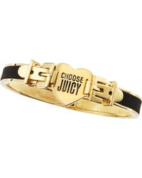 Juicy Couture - Black Ribbon Bangle - Lyst