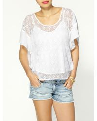 Madison Marcus Laze Silk Top - Lyst