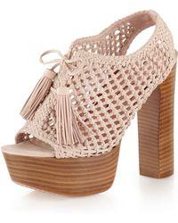 Pencey Alexus Platform Sandal Blush - Lyst