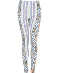 Topshop Fluro Aztec Print Leggings - Lyst