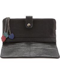 orYANY - Multicharm Goatskin Wallet Black - Lyst
