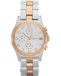 Marc By Marc Jacobs Women'S Chronograph Henry Two Tone Stainless Steel Bracelet Mbm3070 gray - Lyst
