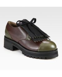 Marni Leather Laceup Colorblock Oxfords - Lyst