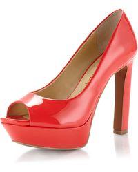 Luxury Rebel | Pumps Carlita Peep Toe Platforms | Lyst