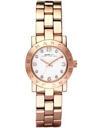 Marc By Marc Jacobs Mbm3078 Mini Amy Rose Gold-Plated Watch - For Women - Lyst