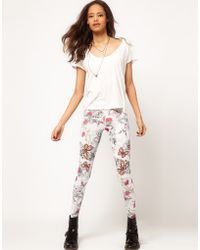 ASOS Collection  Leggings in Tattoo Print - Lyst